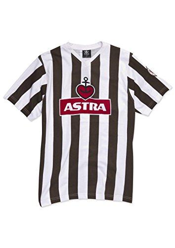 FC St. Pauli Traditions Astra-Maglietta, weiß/braun
