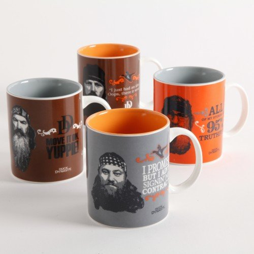 Duck Dynasty 15 Oz Assorted 4 Piece Coffee Mug Set