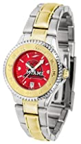 Miami (Ohio) RedHawks Competitor AnoChrome Ladies Watch with Two-Tone Band