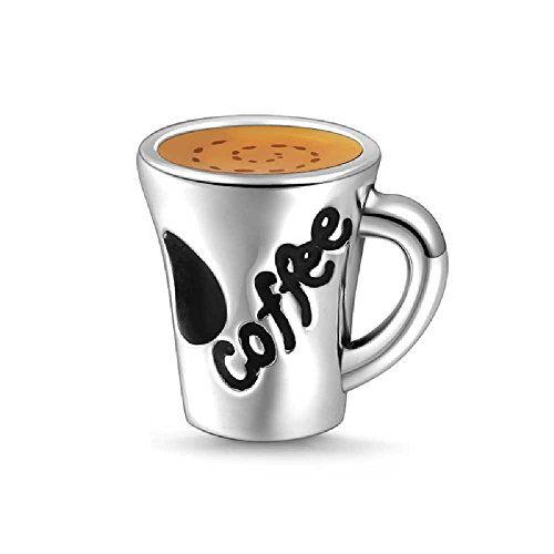 Soufeel Savoury Coffee Love Coffee Cup Charm 925 Sterling Silver Fit European Bracelets and Necklaces Unforgettable Gifts on Black Friday