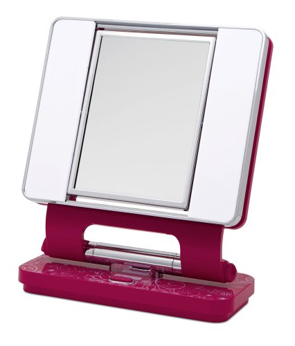 ott-lite-natural-daylight-makeup-mirror-pink-white-chrome-26-watt