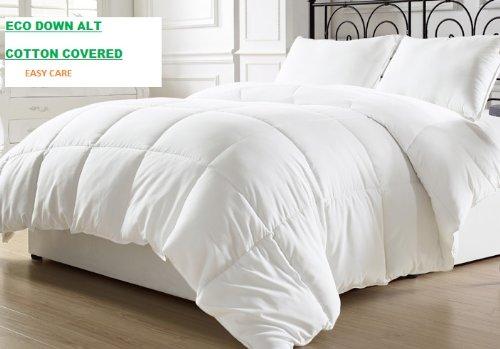 Natural Comfort Goose Down Alternative Comforter. Queen Light