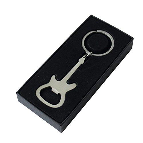Elettrico in Acciaio Inox Rock Guitar Portachiavi e Apribottiglie - Boxed