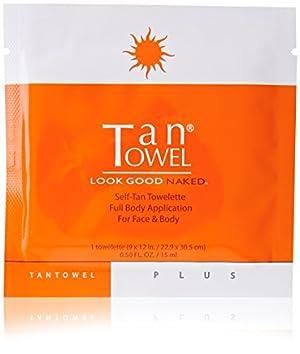 Tan Towel Self Tanning Towelette Full Body Moisturizer, 5 Count