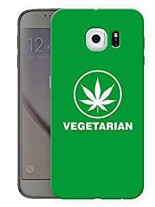 """Humor Gang Grass VegetarianPrinted Designer Mobile Back Cover For """"Samsung Galaxy S6"""" (3D, Matte, Premium Quality Snap On Case)..."""