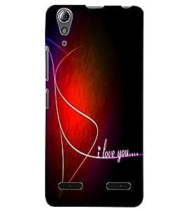 ColourCraft Love Design Back Case Cover for LENOVO A6000 PLUS