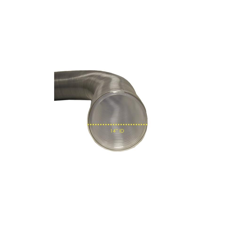 PVC Flexduct (Light Duty) Clear   Vent Hose   14 ID x 50ft Length Hose (Fully Stretched)