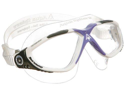 Aqua Sphere Vista Lady Swim Mask, White Lilac