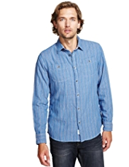 XXXL North Coast Pure Cotton Double Face Striped Shirt