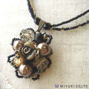 "Create Your Own Miyuki Glass Bead ""Classy Bouquet"" Necklace"