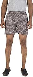 Urbantouch Men's Relaxed Boxer Shorts (Csmyx-51001, Grey, 30)