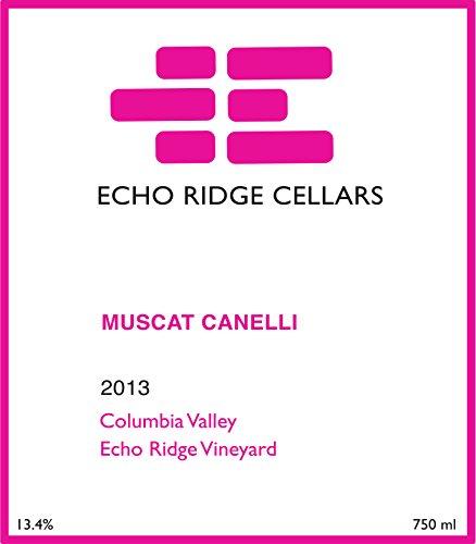 2013 Echo Ridge Cellars Columbia Valley Estate Muscat Canelli 750 Ml