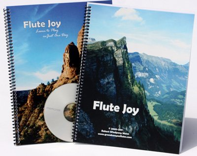 Native American Flute Joy 6- hole Instruction Book Package for Basic to Advanced & CD.