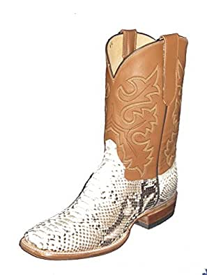 Snakeskin Square toe Python western Boots (7.5 D)