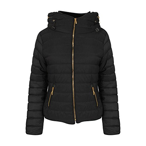 ladies-quilted-padded-hooded-gold-zip-bubble-fur-collar-warm-thick-jacket-coat-uk-size-8-14-s-uk-8-b