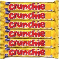 Crunchie Milk Chocolate with Honeycomb Center - Pack of 6 x 40g Bars