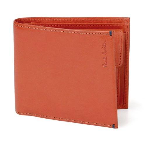 (ポールスミス) Paul Smith ポニースキン 小銭入れ付き 二つ折り財布 オレンジ [並行輸入品]