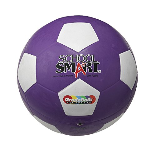 School Smart Soccer Ball - Size 5 -Violet