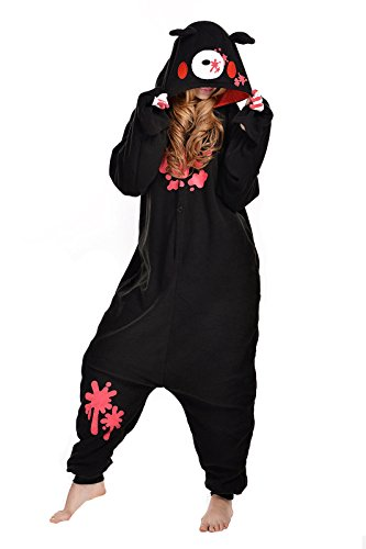 NEWCOSPLAY Family Unisex Onesies Pajamas Cosplay Sleepsuit Costume Pajamas (L, Black Bear) (Black Bear Pajamas compare prices)