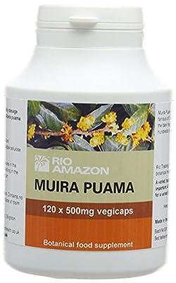 Rio Amazon 500 mg Muira Puama Vegetable Capsules - Pack of 120 from Rio Amazon