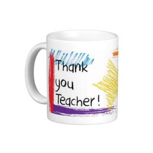 Thank You Teacher Coffee Mug White (15Oz)