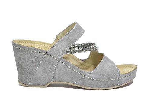 Grunland Ciabatte zeppa grigio sandali donna CI1028 39