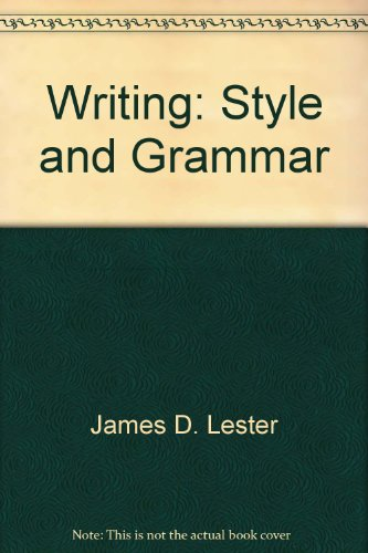 Title: Writing Style and grammar