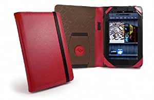 Tuff-Luv Embrace Faux Leather case cover for Amazon Kindle Fire (not compatible with Fire HD) & Kindle Keyboard - Red