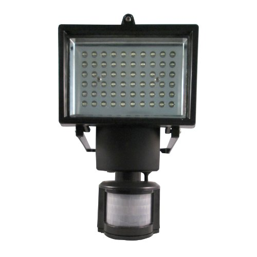 Solar Rechargable 60 Extra Bright LED Security Flood Light with Passive Infra-red Sensor