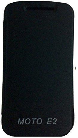 Dashmesh Shopping Premium Durable Flip Cover Case for Motorola MOTO E2 2nd gen BLACK