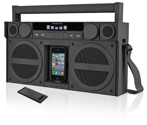 iHome iP4GZ FM 30-Pin iPod/iPhone Speaker Dock Boombox (Gunmetal)