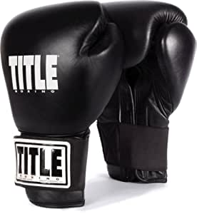 TITLE Boxing Eternal Pro Training Gloves, Black, 12-Ounce
