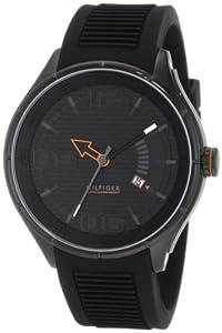 Tommy Hilfiger 1790803 - Reloj de pulsera hombre, silicona, color negro
