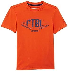 Umbro F24 Lineaire T-Shirt Garçon Orange FR : 11 ans (Taille Fabricant : 138)