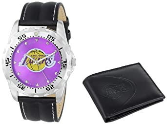 Game Time Unisex NBA-WWS-LAL Wallet and Los Angeles Lakers NBA Watch Set by Game Time