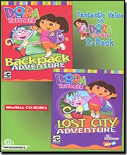 Dora the Explorer Backpack Adventure and Lost City Adventure 2 Pack