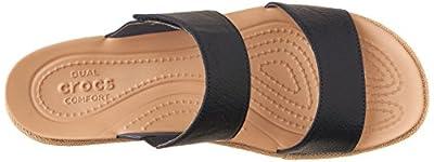 e06f20bd8159 crocs Women s A Leigh 2 Strap Mini W Wedge Sandal