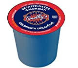 Timothys World Coffee DECAF Colombian 4 Boxes of 24 K-Cups for Keurig Brewers