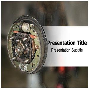 Car Brake PowerPoint Template - PowerPoint (PPT) Slides on Car Brake