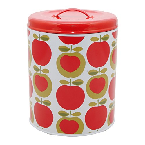 Apple Heart Cookie Tin Canister