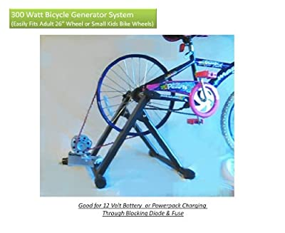 Bicycle Generator Kit 300 Watts DC Pedal Power Generator With Dynamo, Belt, Plate, Stand