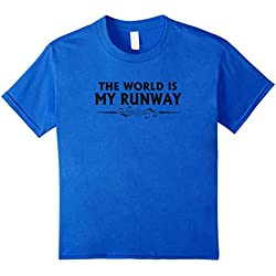 Kids The World is My Runway Fashion Modeling T-Shirt 12 Royal Blue