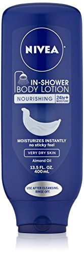 NIVEA In-Shower Nourishing Body Lotion for Very Dry Skin, 13.5 Ounce
