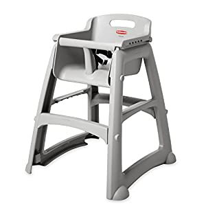 """Rubbermaid FG781408 Platinum Sturdy Chair Youth Seat without Wheels, 23.5"""" Length, 23.5"""" Width, 29.75"""" Height from Rubbermaid"""
