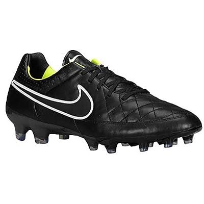 Nike TIEMPO LEGACY FG Black/Volt//Black US sz. 6 Mens Soccer