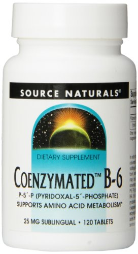 Source Naturals Coenzymated B-6 Sublingual, Promotes a Healthy Nervous System,120 Tablets