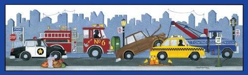 "Art 4 Kids ""City Vehicles"" Mounted Art Print, 36""X12"" front-656997"