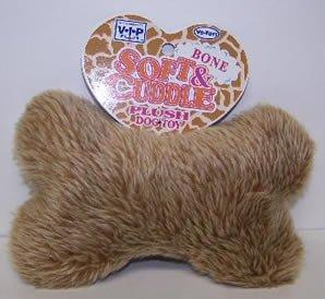 Vo-Toys Wild n Shaggy Bone Plush 8 in Dog Toy