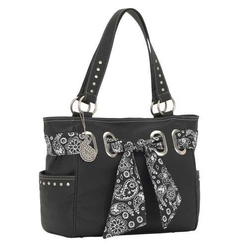 Signature Bandana Collection Black Western Handbag, Purse By Bandana - B545507rw
