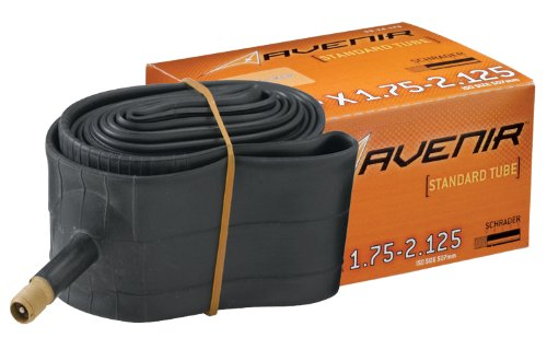 Avenir Bicycle Tube 12 Inch x 1.75-2.125 Inch Schrader Valve